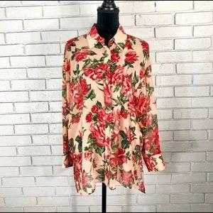 Zara Women's Floral Print Shirt